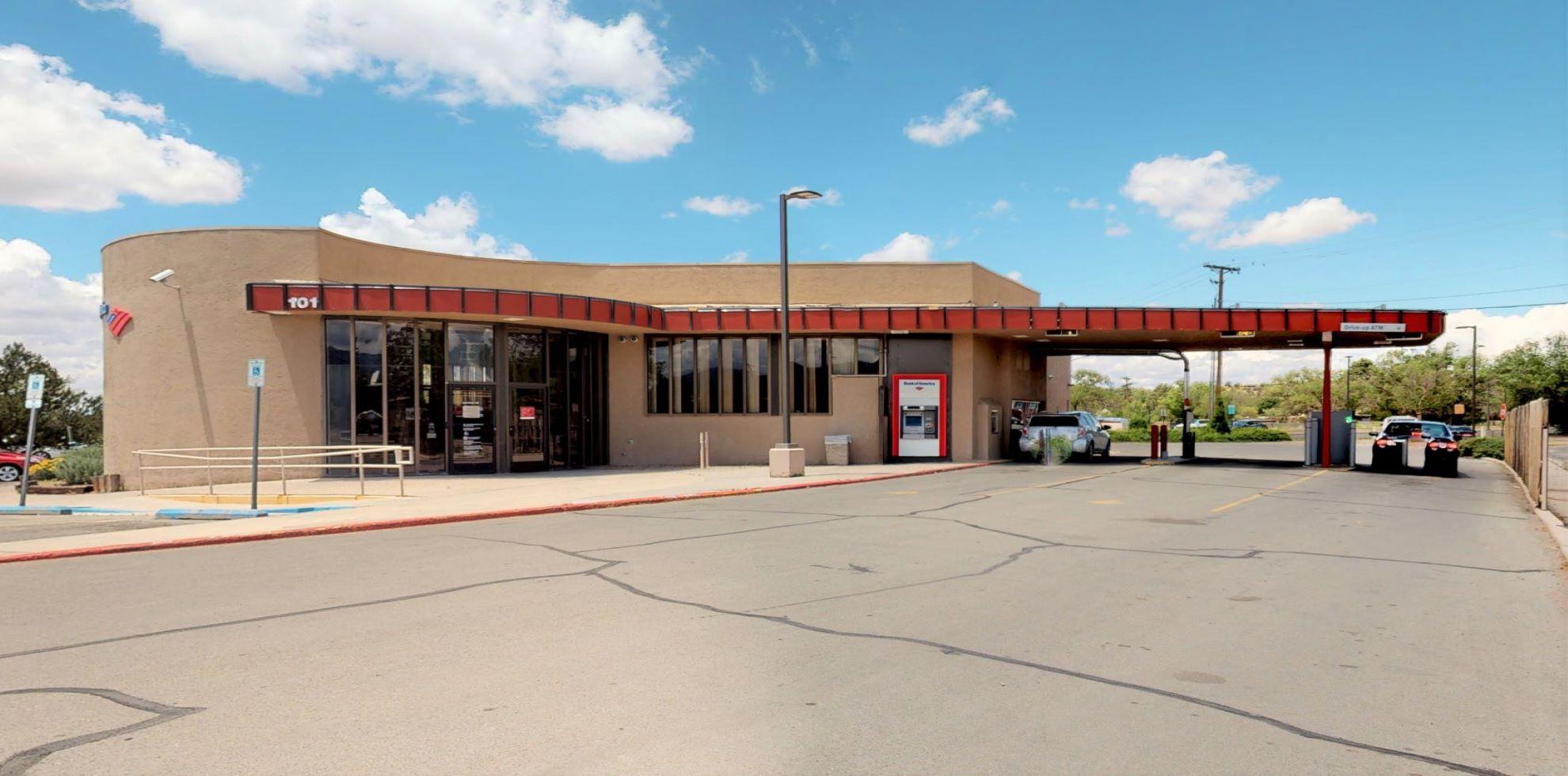 Bank of America financial center with drive-thru ATM | 101 Paseo De Peralta, Santa Fe, NM 87501