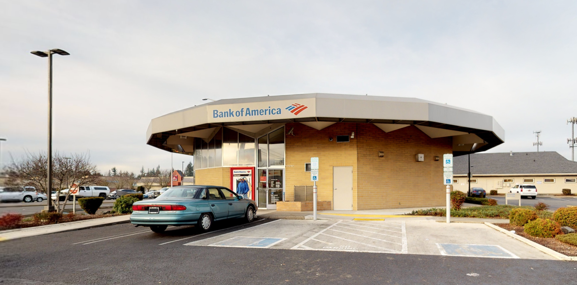 Bank of America financial center with drive-thru ATM   11111 Canyon Rd E, Puyallup, WA 98373