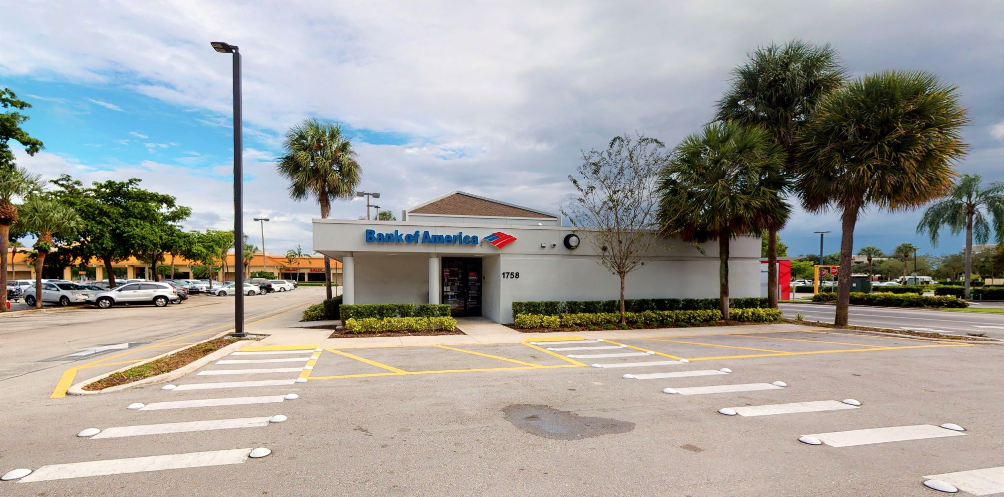 Bank of America financial center with drive-thru ATM and teller   1758 S Congress Ave, Palm Springs, FL 33461