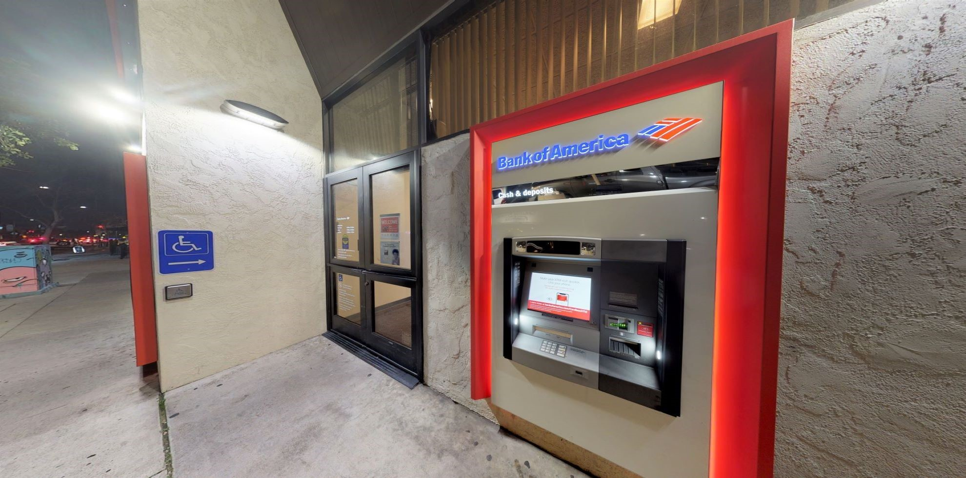 Bank of America financial center with walk-up ATM   3101 University Ave, San Diego, CA 92104