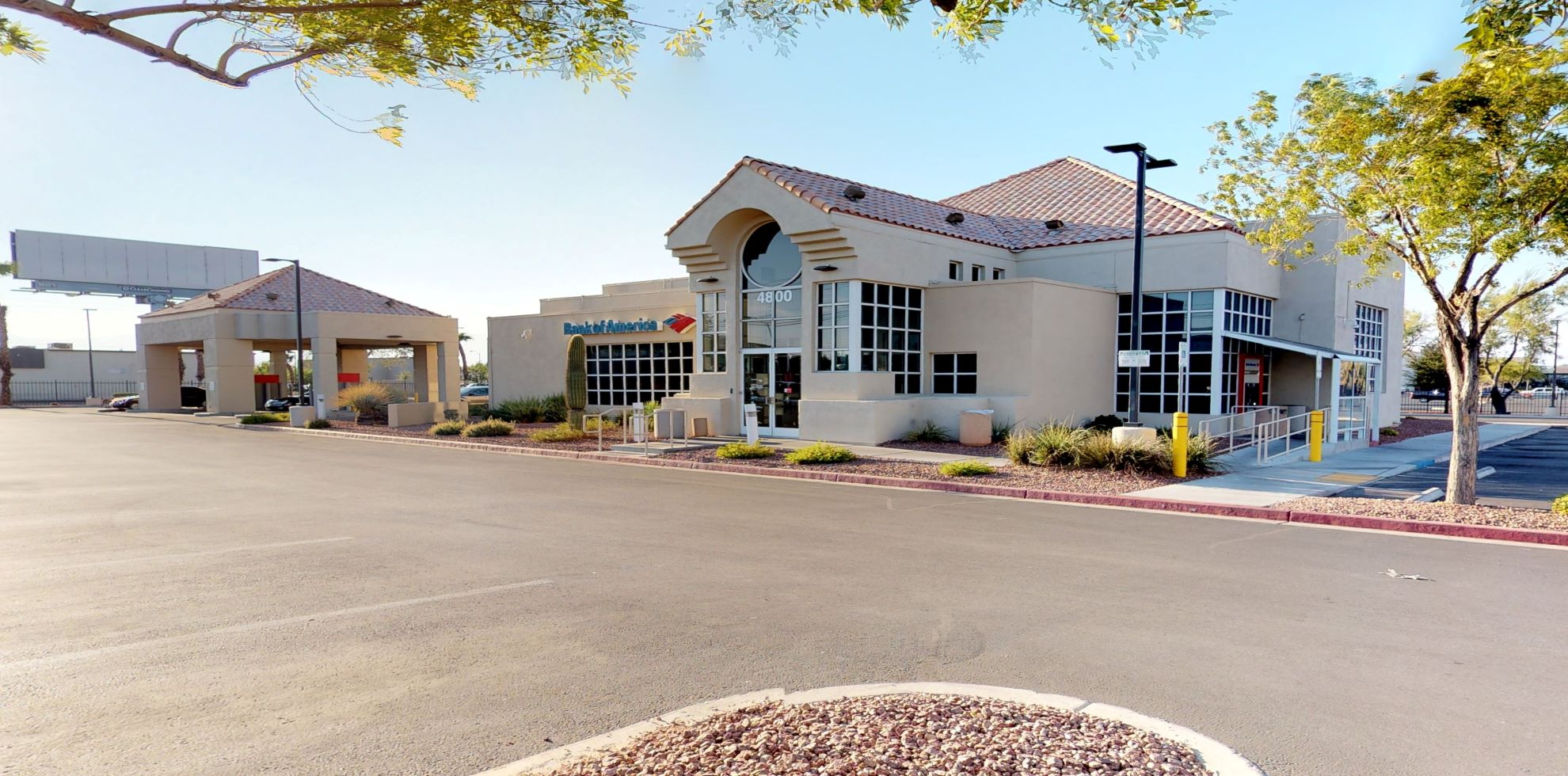 Bank of America financial center with drive-thru ATM   4800 W Tropicana Ave, Las Vegas, NV 89103