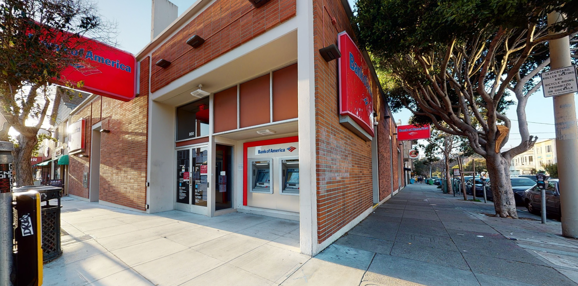 Bank of America financial center with walk-up ATM   800 Irving St, San Francisco, CA 94122