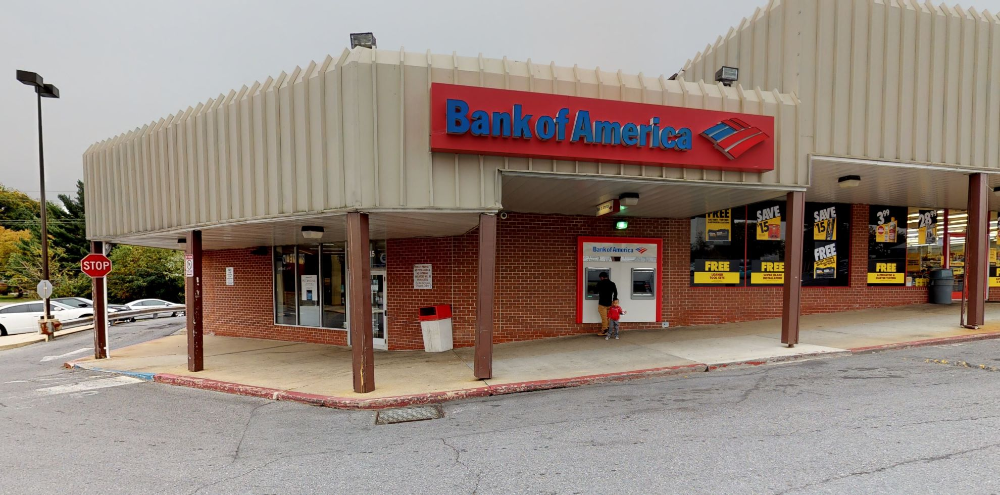 Bank of America financial center with drive-thru ATM | 11915 Reisterstown Rd, Reisterstown, MD 21136