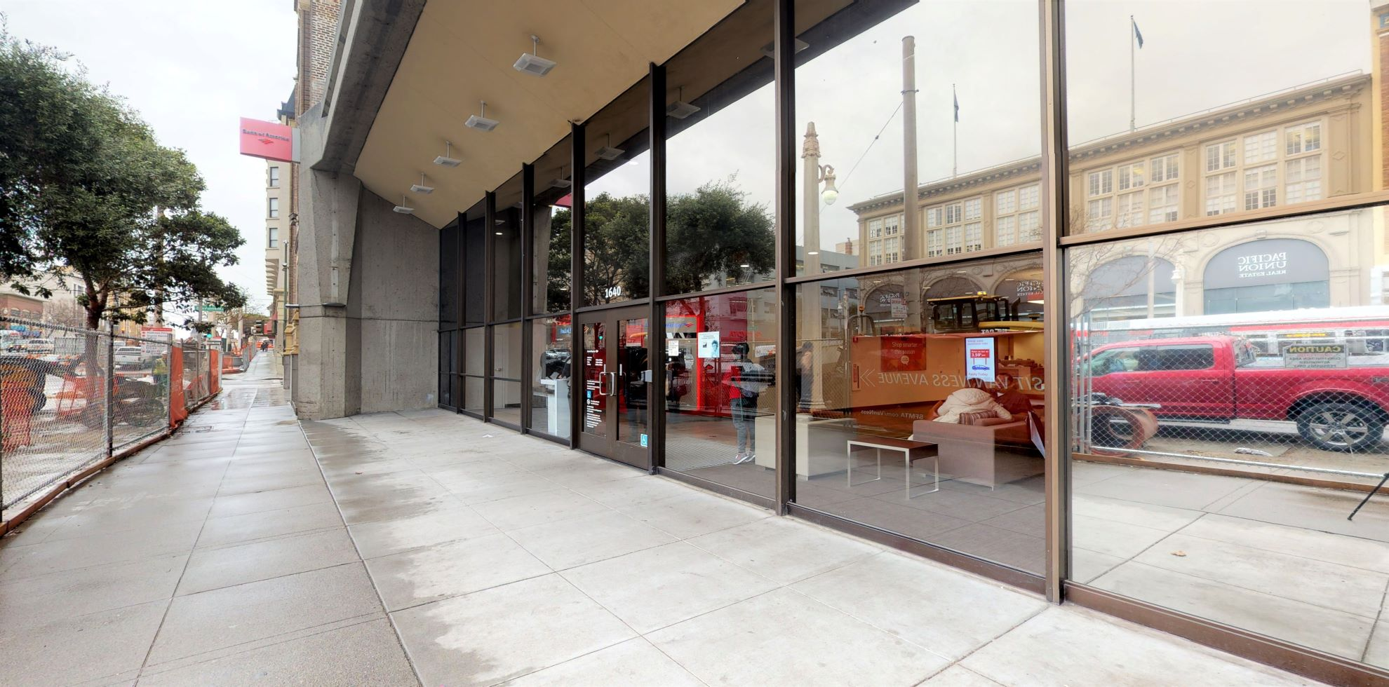 Bank of America financial center with walk-up ATM   1640 Van Ness Ave, San Francisco, CA 94109