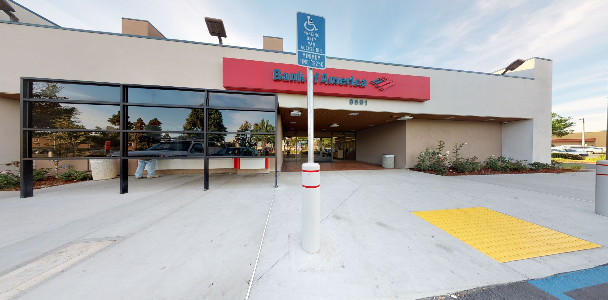 Bank of America financial center with walk-up ATM   9591 Chapman Ave, Garden Grove, CA 92841