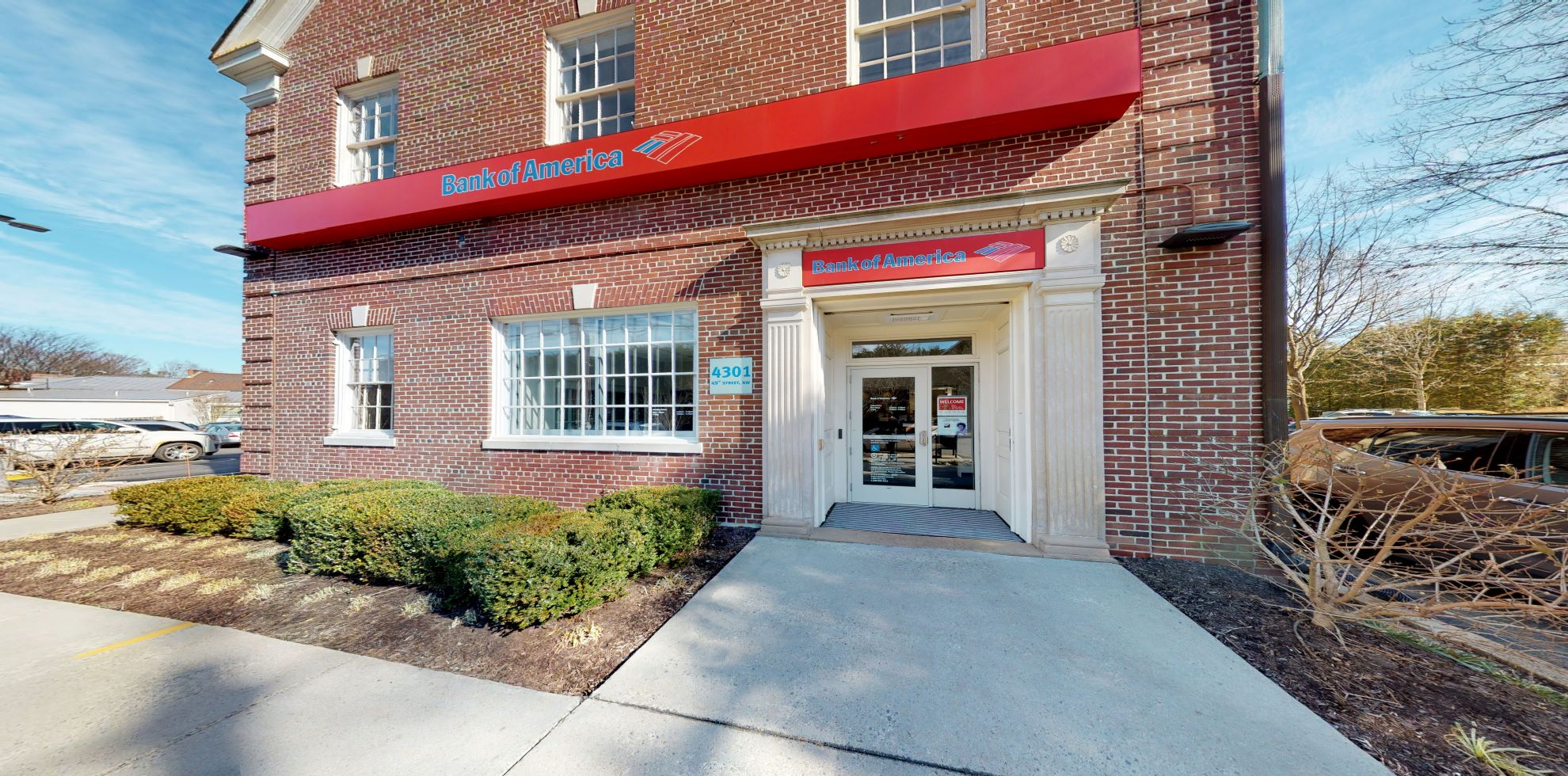 Bank of America financial center with walk-up ATM | 4301 49th St NW, Washington, DC 20016