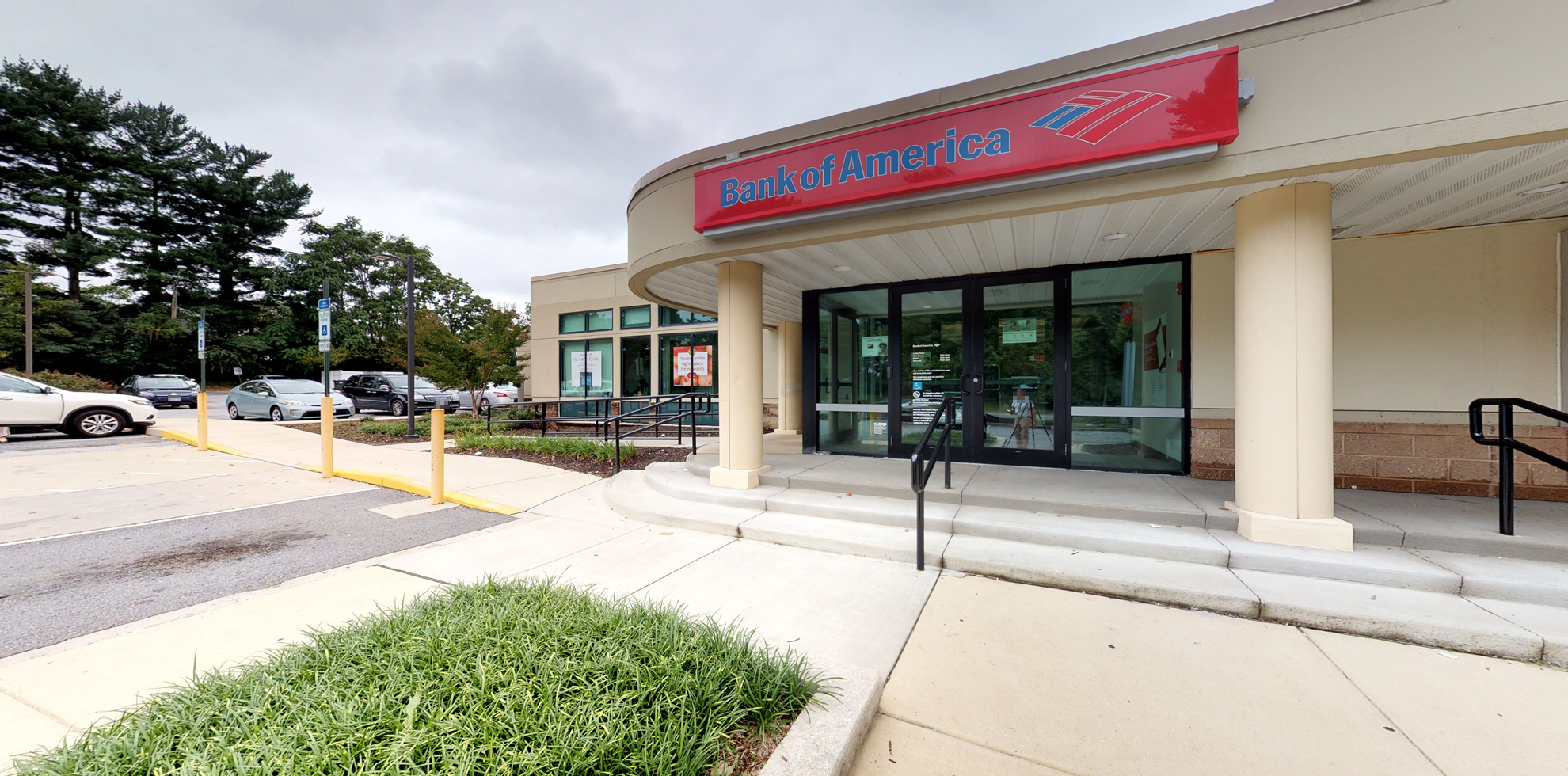 Bank of America financial center with walk-up ATM   3621 Old Court Rd, Baltimore, MD 21208