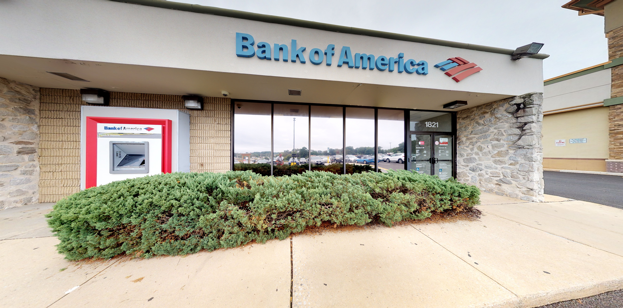 Bank of America financial center with drive-thru ATM   1821 York Rd, Lutherville, MD 21093