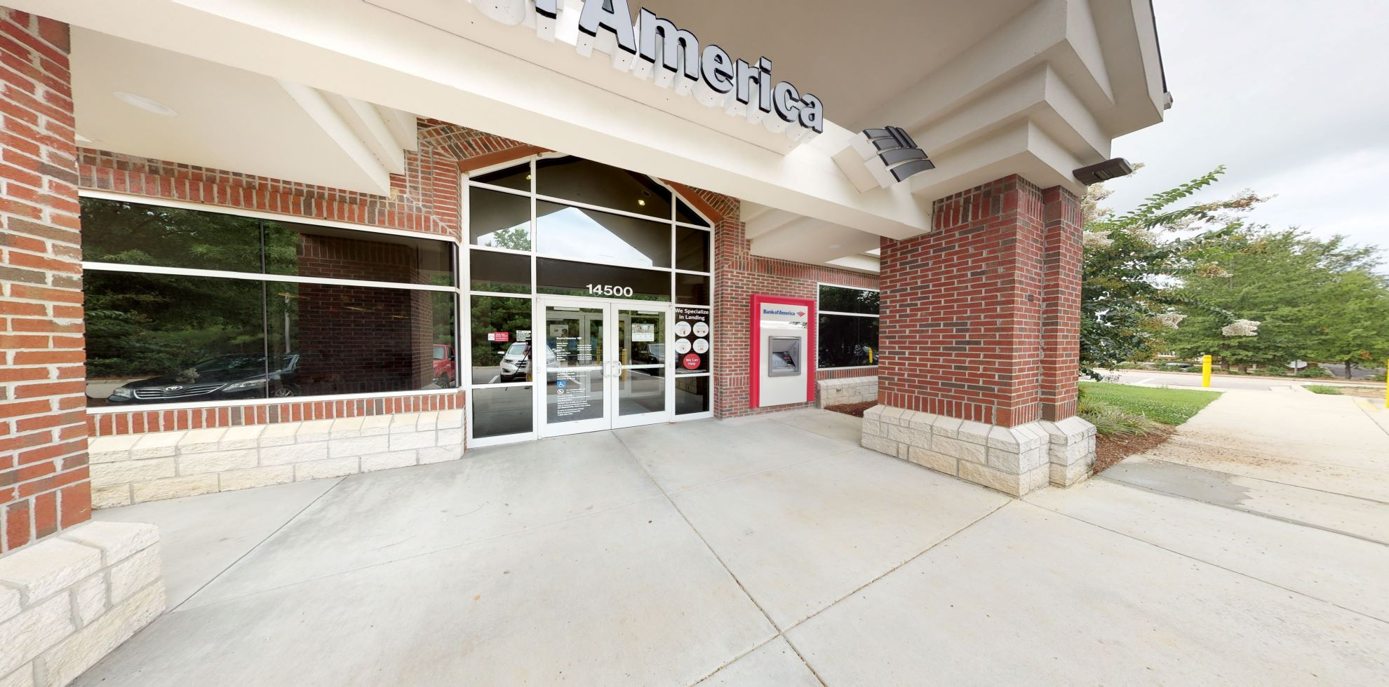 Bank of America financial center with drive-thru ATM and teller   14500 Falls Of Neuse Rd, Raleigh, NC 27614