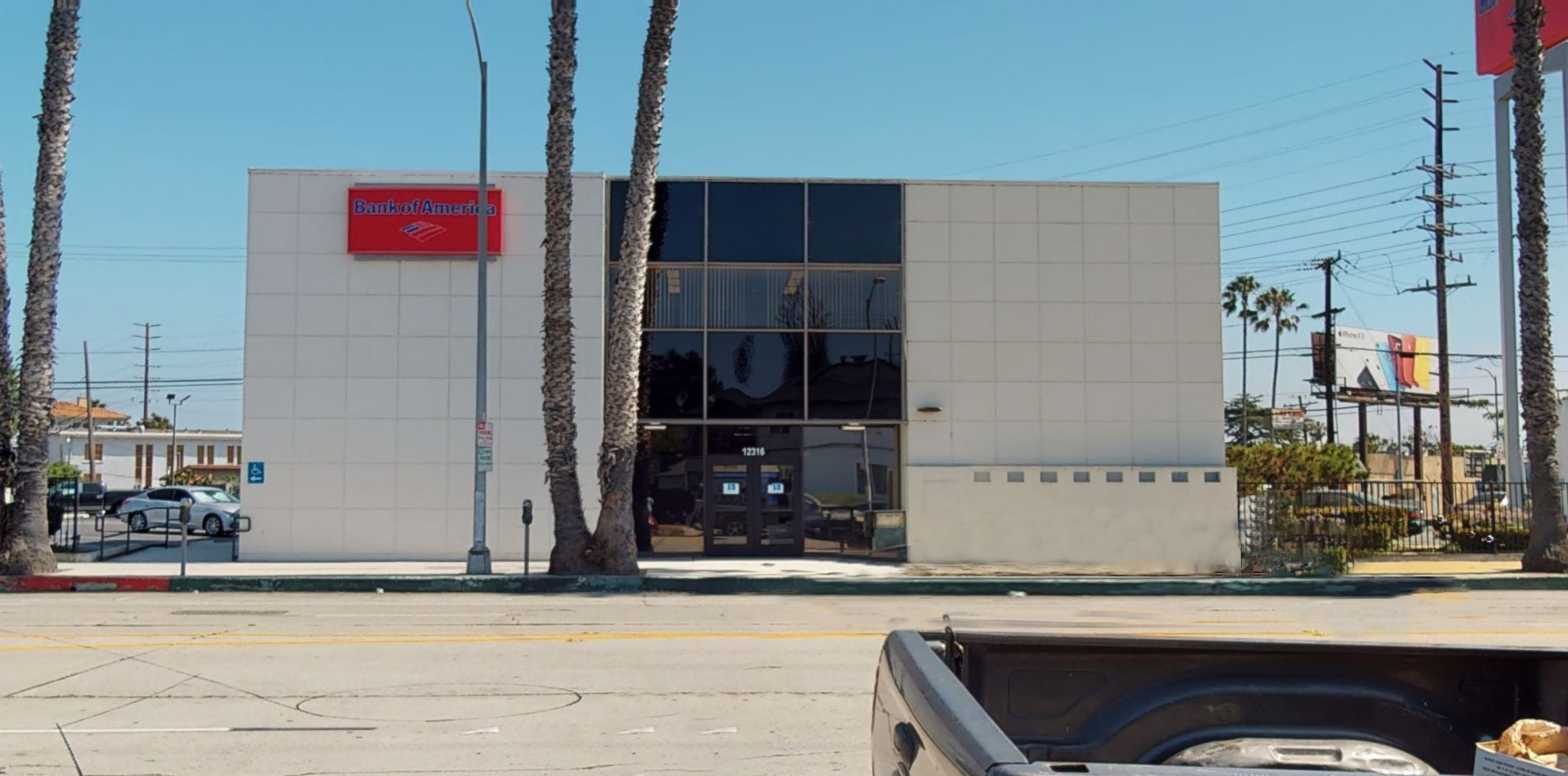 Bank of America financial center with walk-up ATM   12316 W Washington Blvd, Los Angeles, CA 90066