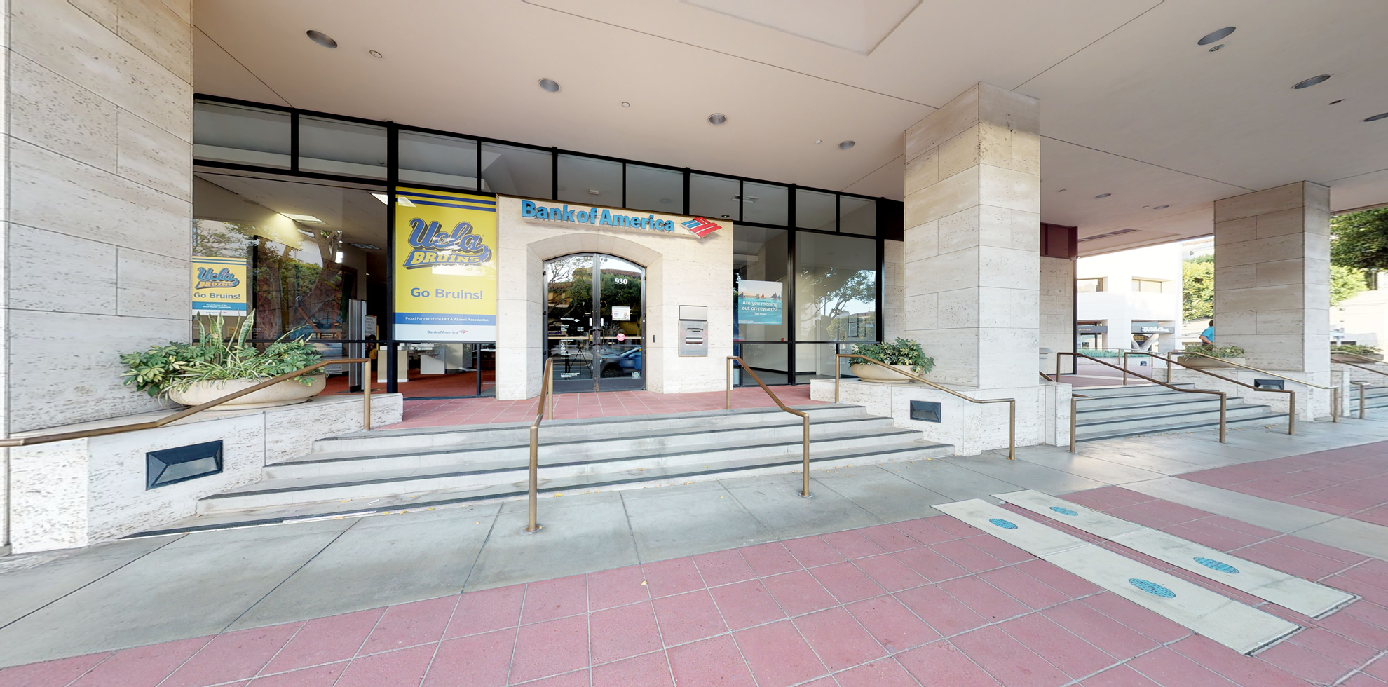 Bank of America financial center with walk-up ATM   930 Westwood Blvd, Los Angeles, CA 90024