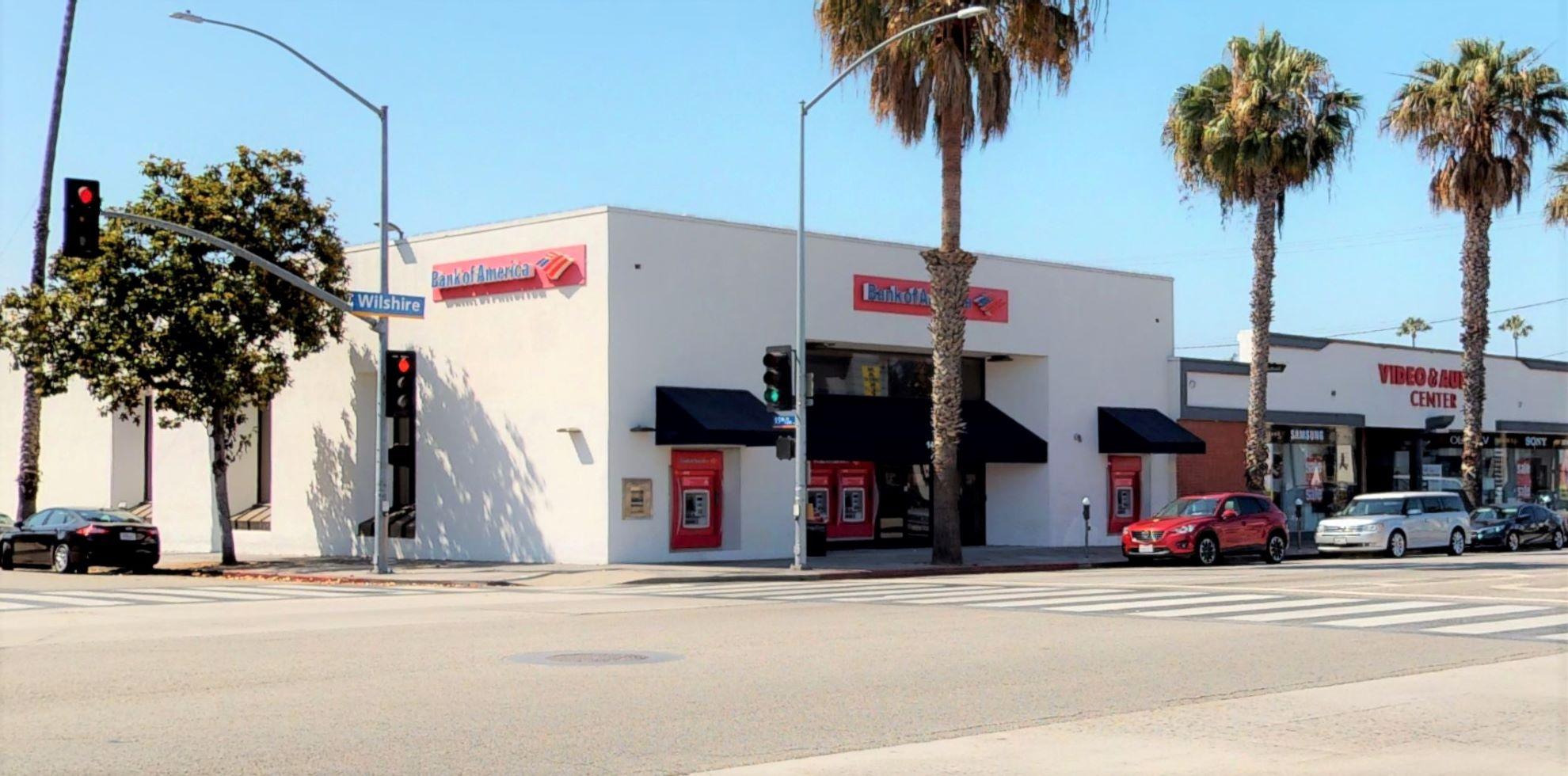 Bank of America financial center with walk-up ATM   1430 Wilshire Blvd, Santa Monica, CA 90403